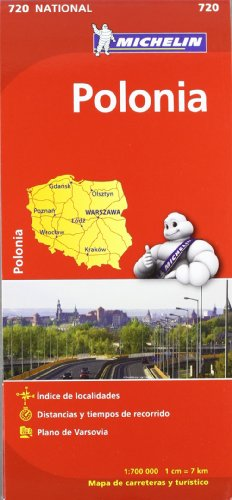 Mapa National Polonia (Mapas National Michelin) por Vv.Aa
