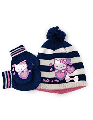 861e12f6fc1e Hello kitty Bonnet et moufles bébé enfant fille 3 coloris de 9mois à 3ans -