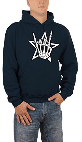 Touchlines Death Metal Headbanger, Felpa Uomo, Blau (Navy 18), XXXX-Large