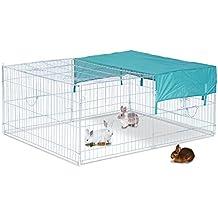Jaula Recinto para Animales Pequeños y Mascotas tipo Gallinas o Conejos para exterior, jardines y patios (Modelo 2)
