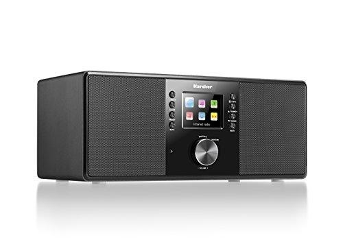 Karcher DAB 7000i Internet Radio DAB +/FM RDS-Wi-Fi e Bluetooth-Porta USB-AUX IN-con doppio allarme sveglia Nero