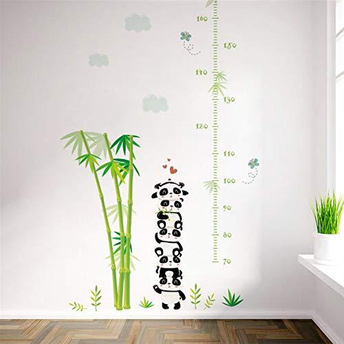 Likeai Zoo Waldtiere Bambus Höhe Maßnahme Wachstum Diagramm Wandaufkleber Für Kinderzimmer Wandtattoos Poster Kunst Wandbild