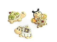 Idea Regalo - DLM26560 (kit 12 pezzi) Calamita Magnete Animali Animaletti Tartaruga Ape Portafortuna XD1445 bomboniera