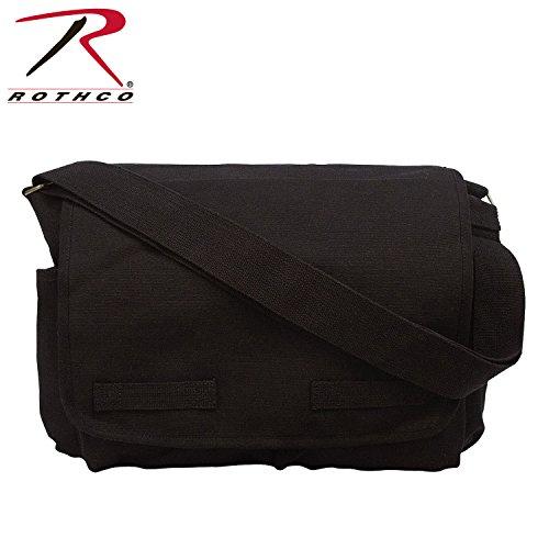 Rothco HW Classic Messenger Bag - Black - Classic Messenger Bag