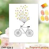 Fahrrad Muster Hochzeit Gästebuch personalisierte Hochzeitsgeschenke Fingerabdruck Malerei DIY Party Geburtstag Dekorationen-gelb