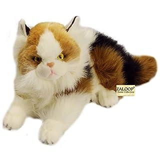 Katze Dreifarbig ca. 40 cm Plüschtier Kuscheltier Stofftier Plüschkatze A9 Calico von Zaloop®