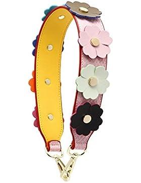 Umily Damen Taschengurt Bunter Schultergurt Tragegurt Kurze 58 cm einzigartiges und stilvolles Zubehör für alle...