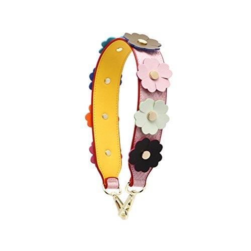 Umily Damen Taschengurt Bunter Schultergurt Tragegurt Kurze 58 cm einzigartiges und stilvolles Zubehör für alle Schultertaschen, Tragetaschen und Handtaschen-Rosa (Bag Coach Camera)