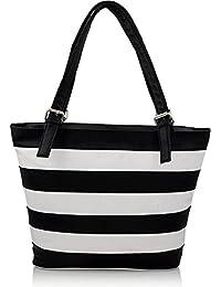 Stylinc Women's Hand Bag Black & White