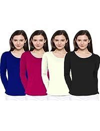 So Sweety Women's Plain T-Shirt (Wtcom7003_Fushia_Large)