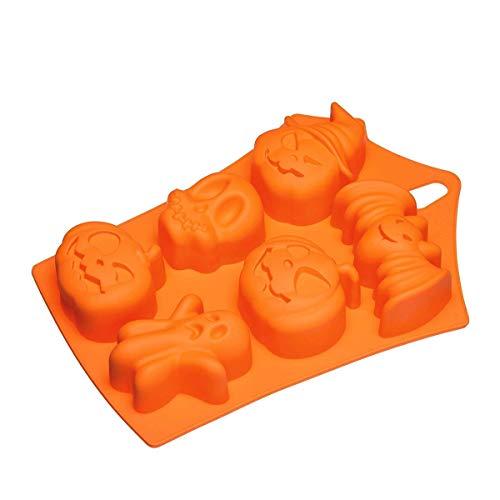 Silikonform für Eiswürfel, Gebäck, Torten, Schokolade, Süßigkeiten - Halloween-Formen (Di Halloween Biscotti)
