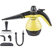 Beper - Limpiador de Vapor Higiénico, Caldera de Aluminio de 350 ml, Botón de Vapor Continuo, Presión 3.2 bar, 30 g/min, Cable de 3 M, Amarillo y Negro