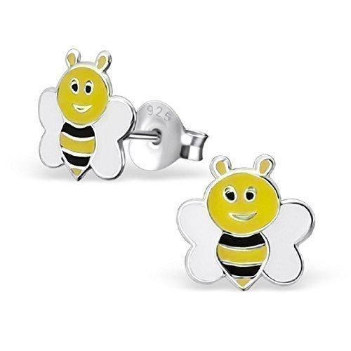 laimons-boucles-doreille-pour-enfant-argent-sterling-925-abeille-jaune-blanc-noir