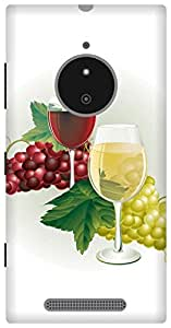 The Racoon Lean grapes wine hard plastic printed back case / cover for Nokia Lumia 830