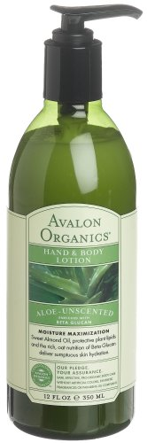 Avalon Organics - Hand & Body Lotion - Aloe Unscented - 340g -