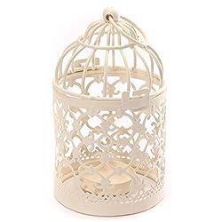 Ruikey Metall Kerzenhalter Vintage Laterne Tee Licht Aushöhlen Home Decor klassischer 14x8cm