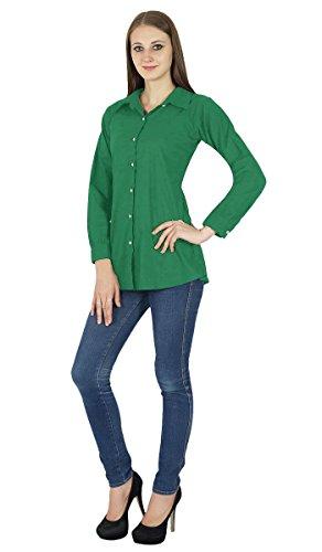 Chemise À Manches Longues En Coton Kurta Haut Vêtements Pour Vert