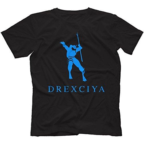 Drexciya T-Shirt 100% Cotton | Detroit Electro Underground Resistance Aux 88[Black,XL]
