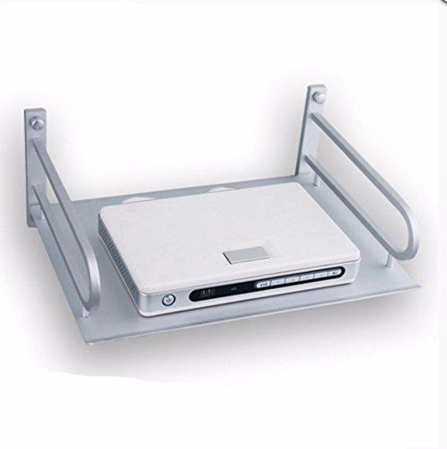 Platz Aluminium Regale Palettenregale Regal Anzahl TV Set-Top Boxen Router Wand an.
