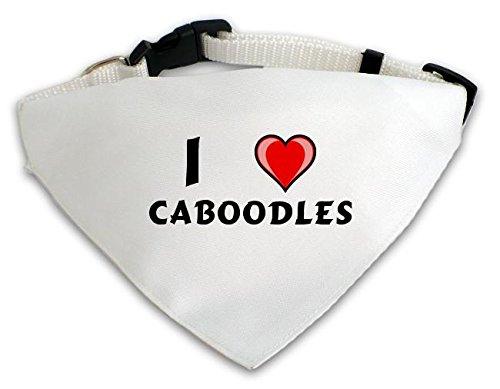 personalisierter-weisser-hundschal-mit-aufschrift-ich-liebe-caboodles-vorname-zuname-spitzname