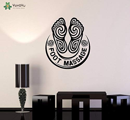 zhuziji Yoyoyu Wandtattoo Fußmassage Spa Salon Vinyl Wandaufkleber Kreative Moderne Entspannen r Abnehmbare Decor Kunstwand Di 57x65 cm