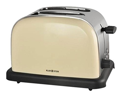 Klarstein–Grille-pain avec 2fentes (acier inoxydable), Design Vintage beige