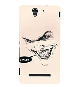 EPICCASE Wicked Smile Mobile Back Case Cover For Sony Xperia C3 (Designer Case)