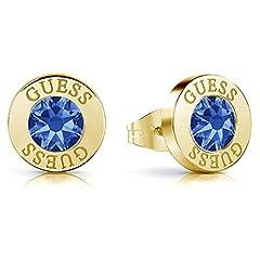 Idea Regalo - Indovinate cristalli orecchini brillanti blu chirurgico oro in acciaio inossidabile placcato UBE78101 [AC1154]