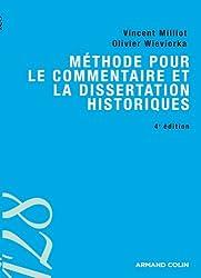 Méthode pour le commentaire et la dissertation historiques - 4ed.