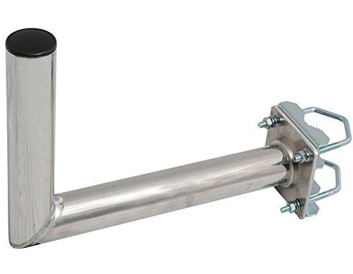 SKT ZTI02Soporte de Mastil para Antena Parabólica Aluminio 35cm