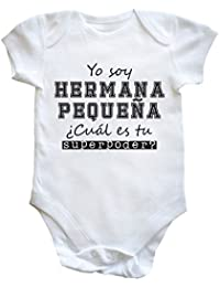 HippoWarehouse Yo Soy Hermana Pequeña, ¿Cuál es tu Superpoder? body bodys pijama niños