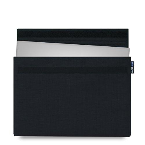 Adore June 13,3 Zoll Hülle [Serie Classic] Speziell für Dell XPS 13 2018 2017 Sleeve Tasche aus widerstandsfähigem Textil-Stoff Dell XPS 13 Touch / Non-Touch / 2-in-1 2015-2018 Case [Schwarz]