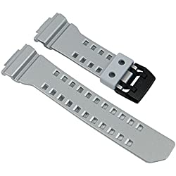 Casio G-Shock Ersatzband Uhrenarmband Resin Band Silbergrau für GBA-400 10488595