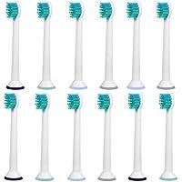 12 pz (3x4). Testine per spazzolino da denti E-Cron®. Philips Sonicare ProResults Mini Pezzi di sostituzione compatibili. Totalmente compatibili con i seguenti modelli di spazzolini elettrici Philips: DiamondClean, FlexCare, FlexCare Platinum, FlexCare(+), HealthyWhite, 2 Series, EasyClean e PowerUp.