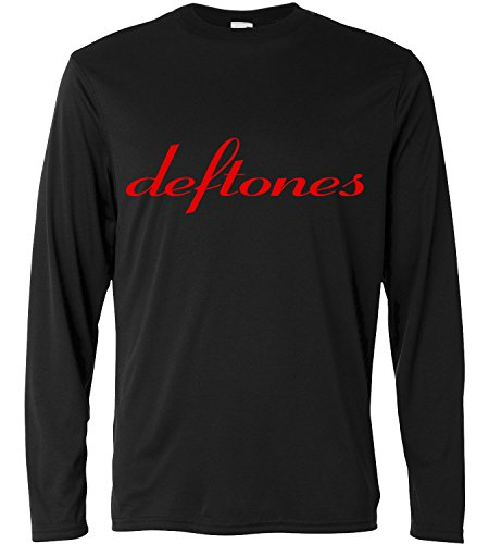 T-shirt a manica lunga Uomo - Deftones - Red Logo - Long Sleeve 100% cotone LaMAGLIERIA, S, Nero