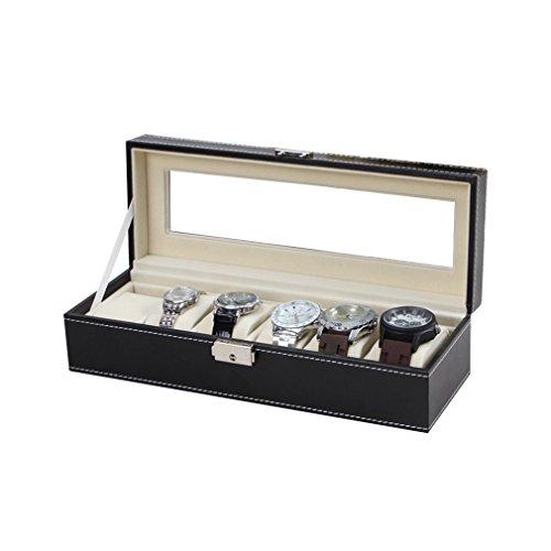 boite-de-montre-presentoirrangementcoffret-couleur-noire-a-lexterieur-avec-beige-a-linterieur-en-pan