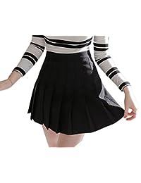Falda De Tenis Plisada Para Mujer Mini Falda De Pliegues Para Escuela Negro S