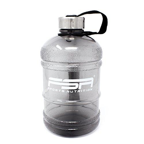 Wasserflasche Water Jug 1,89 Liter / 1890 ml in Schwarz mit Drehverschluss, frei von BPA, von der Profisport-Marke FSA Nutrition - Tag Jug