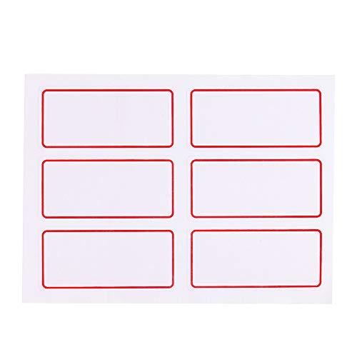 FiedFikt Selbstklebende Etiketten, blanko, für Geschäft, Schule und Büro, Weiß, 25 x 35 mm, 12 Bögen