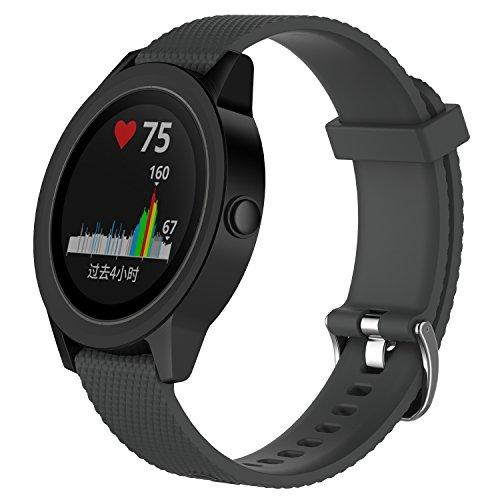 XIHAMA Uhrenarmband für Garmin vivoactive 3, Silikon Quick Release Ersatz Band Sport Fitness Armband für vivoactive 3/vivomove/vivomove HR GPS Smart Watch