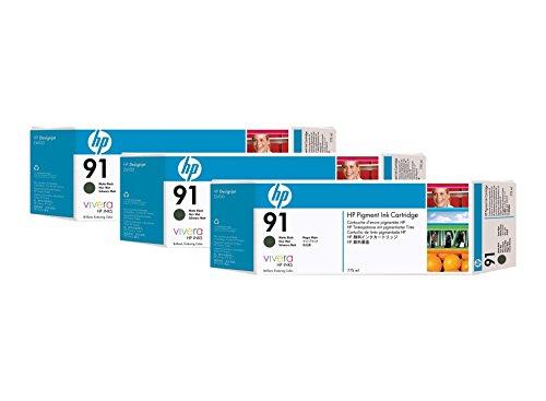 hewlett packard incorporated C9480A - HP 91 MATTE BLACK INK CART 3-PACK -