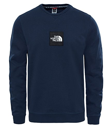 THE NORTH FACE M Fine Crew Sweat Light T-Shirt Langarm, Herren XXL Blau (Urban Navy) -