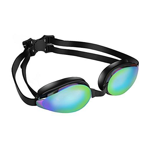 SWICEN Schwimmbrille Schwimmen Brille Kein Auslaufen Anti-Fog UV-Schutz Clear Crystal Vision mit Schutzhülle Case Bequem FO Erwachsene Jugend und Kinder