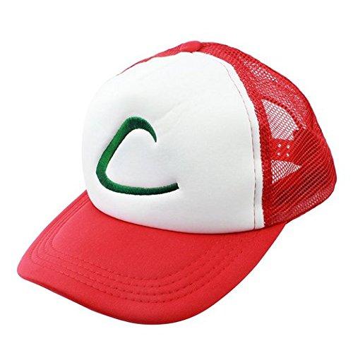 p Pokemon Ash Cap Ketchum Hut Kappe Halloweeen Toys Kostüm Merchandise (Ash Ketchum Cosplay)