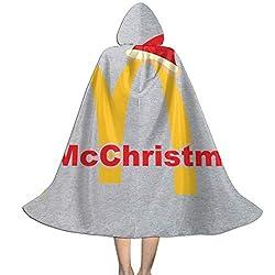 KUKHKU McChristmas Mc Donalds Logo Unisex Kinder Kapuzenumhang Umhang Umhang Cape Halloween Weihnachten Party Dekoration Rolle Cosplay Kostüme