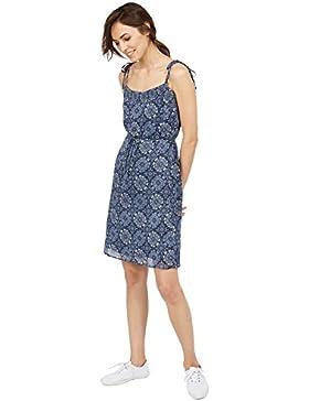 Tom Tailor für Frauen Dress gemustertes Kleid mit Bindeband