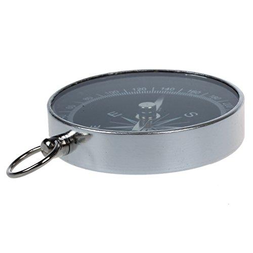 SODIAL(R) Mini Brujula Portatil de Aluminio para Campamento Senderismo Navegacion