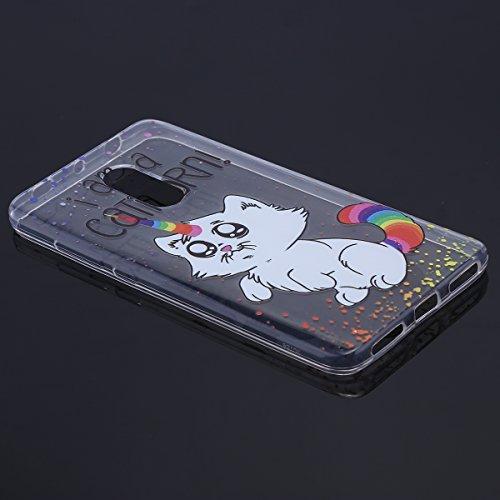 Handytasche Xiaomi Redmi Note 4 Hülle Transparent,Xiaomi Redmi Note 4 Tpu Silikon Schutzhülle,Hpory Kreative Schön [Crystal Clear] Durchsichtig Dünn Tpu Silikon Katze Muster Transparent Ultra Dünn Sto Katze