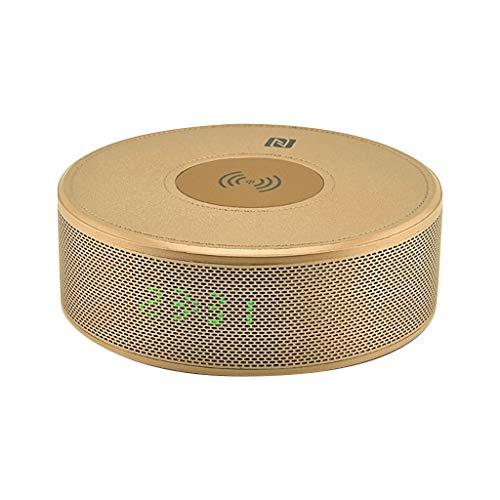 Laile T9 Bluetooth-Lautsprecher Neue drahtlose Aufladeuhr tragbarer Bluetooth-Audio Mini-Wecker tragbarer Subwoofer Karte Kleiner Lautsprecher,Doppelter Weckerentwurf,Klein und stilvoll