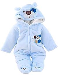 Fossen Kids Mameluco Mono Pijama Bebe Invierno Recien Nacido, Mameluco Abrigo de Niño Niña Impresión de Cartas, Traje de Nieve de Manga Larga Caricatura